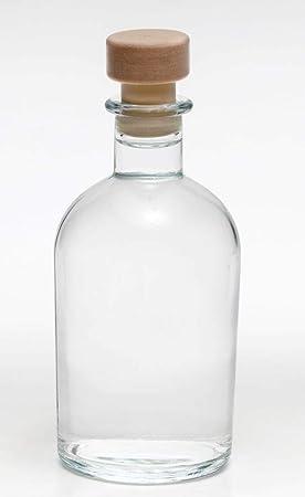 Casa-vetro - Botellas de Cristal vacías (12 Unidades, 250 ml, Cierre de Corcho, 0,25 L)