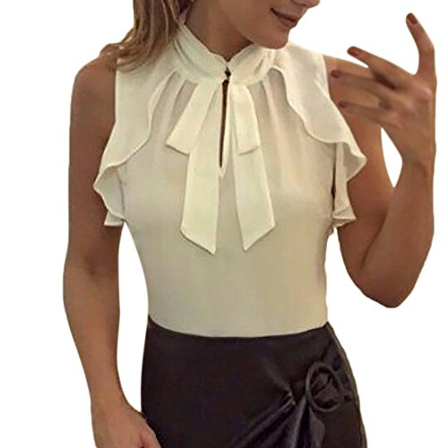 LISTHA Women Chiffon Short Sleeve T Shirt Splice Casual Lace Crop Tops Blouse