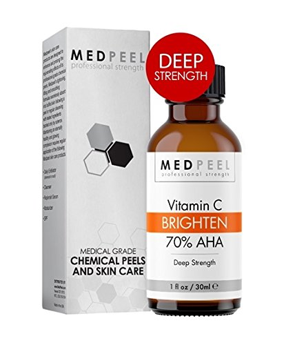 MedPeel AHA & Vitamin C Brightening 70% - Deep Strength Medical Grade Chemical Face Peel for all Skin Tones 1oz / 30ml