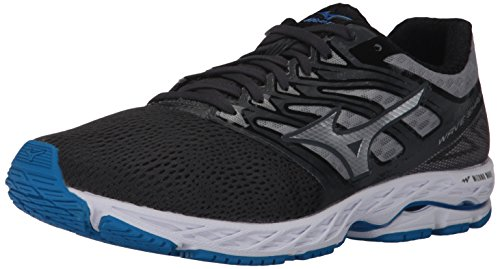 Mizuno Running Men's Wave Shadow Running-Shoes,Iron Gate/Silver/Blue Jewel,11 D US
