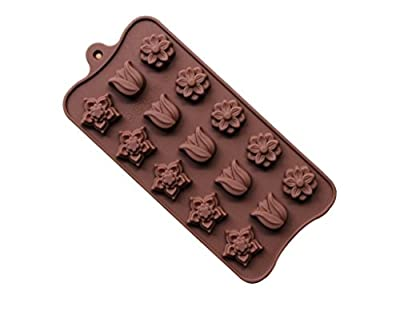 Efivs Arts Roses Flowers Shaped Chocolate Candy Molds Fondant Making Pan Supplies Food-grade Silicone Mold