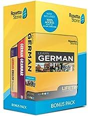 Rosetta Stone Lifetime Access: Learn German | Bonus Pack Bundle | Lifetime Access + Grammar Guide + Dictionary Book Set