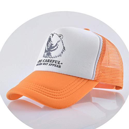 通気性のある グリッド スポーツ帽子 夏キャップ 男の子 キャップ,オレンジ