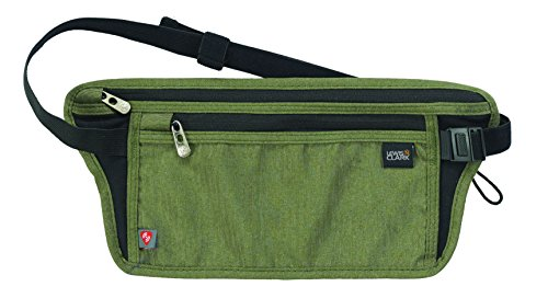 Lewis N. Clark RFID-Blocking Hidden Luxe Waist Stash Money Belt,  Olive,  One Size
