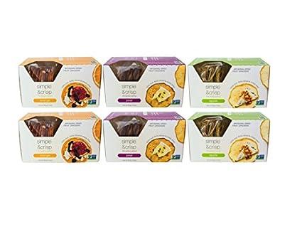 Amazon.com: Simple & Crisp - Apple Artisanal Dried Fruit Crackers - 6pk bundle