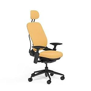 Steelcase Leap Desk Chair With Headrest In Buzz2 Sunrise