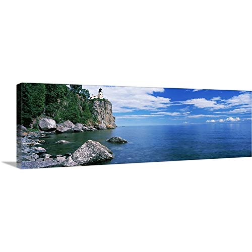 - Panoramic Images Solid-Faced Canvas Print Wall Art Print Entitled Lighthouse on a Cliff, Split Rock Lighthouse, Lake Superior, Minnesota 36