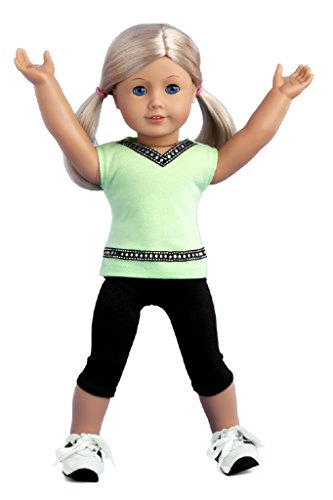 "Doll Clothes 18/""  Lime Yoga Outfit Sophia/'s Fit American Girl Dolls New"
