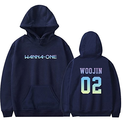 Capuche Wanna One À 1 2018 Bleu Homme Sweats Ctooo FCAqgn