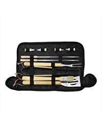CheckOut 10 Piece Bbq Grill Cooking Tool Set With Carry Bag dispense