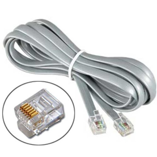 (RJ12 6P6C Reverse Phone Cable for Voice (7 Feet))