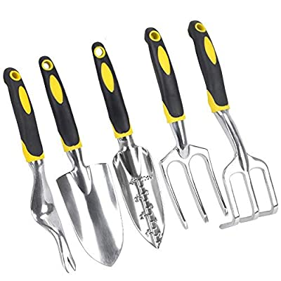 5 Piece Puller Garden Tool Planting Manual Weeding 5 Specifications Ergonomic Handle Hand-Held Dandelion Weeder for Flower and Vegetable Plant Care