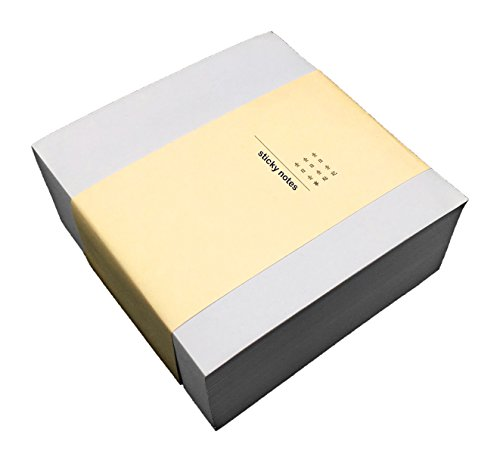 (White Sticky Notes, 4 x 4 Inch, 400 Sheets in 1 Pad/Pack, Extreme Self-Stick Paper Notes, More Durable and Writing Space Than The Stick Notes 3 x 3 Inch Editions)