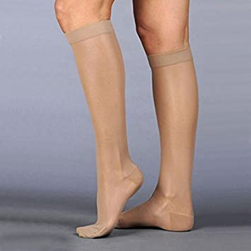 a5e8110bfc6 Image Unavailable. Image not available for. Color  Juzo Naturally Sheer  Compression Knee High Short Closed Toe 20-30mmHg ...