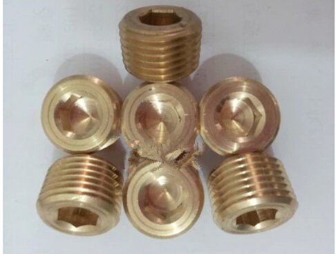 5 PCS 1/8'npt Brass Internal Thread Socket Pipe Plug hwydo