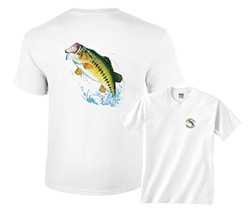 Fair Game Largemouth Bass Jumping Out Of Water For Lure Fishing Emblem - Mens Fair