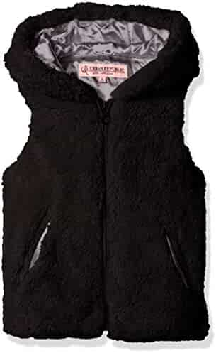 Urban Republic Girls' Ur Faux Fur Vest