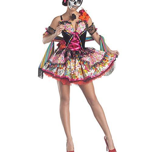 MLMM Halloween Cosplay Ghost Bride Vampire Queen Witch Costume Multicolor Free Size