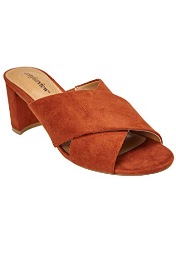 Comfortview Womens Large Rioux Mules Copper