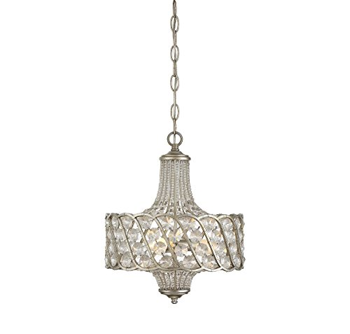 Savoy House 1-1048-3-176 3 Pendant, 3-Light Total 360 Watts, Silver Lace