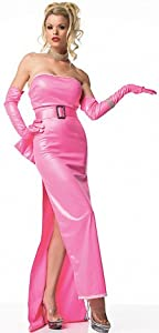 50s Costumes | 50s Halloween Costumes Leg Avenue Pink Diva Marilyn Monroe Womens Halloween Costume NIP $89.99 AT vintagedancer.com