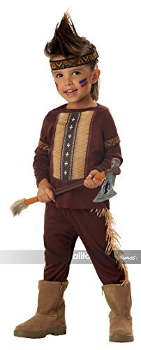 Boys Lil' Indian Warrior Ages 3-4 Fancy Dress Book Wild West Native American Costume by Mega Fancy Dress (Mega Fancy Dress Costumes)