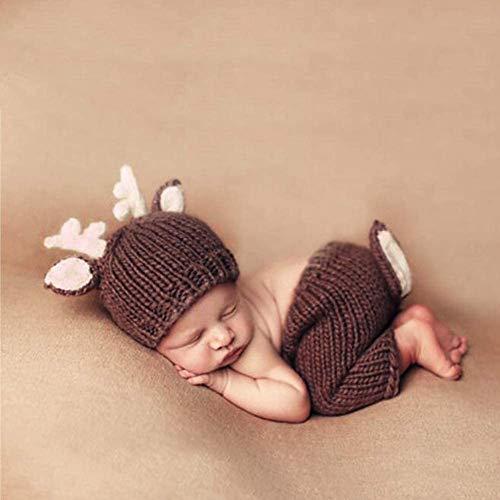 Neugeborene Baby Unisex Häkelstrick Kostüm Foto Fotografie Prop Hüte Outfits SO