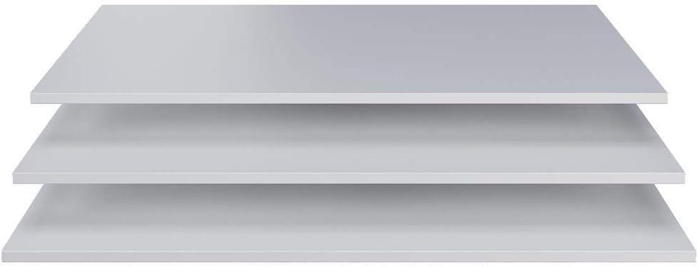 Wei/ß 1.5 x 87 x 50 cm WOOOD Brynn Interieur-Paket