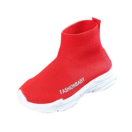 Malla De Bebe Calcetines Invierno Altas Deportivas Zapatillas Botas Elásticas Niño Otoño Niña Rojo Zapatos 18dtxCwq1