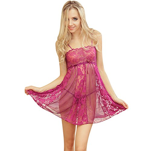 loel Valentine's Day Gift Women's Sexy Babydoll Lingerie Set