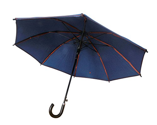 Large Sun & Rain Umbrella - Blue Jean Sunbrella Fabric - Dual Protection from Water and UVA and UVB Rays - By San Francisco Umbrella Co. by San Francisco Umbrella Company (Image #4)