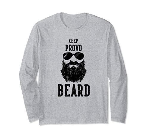 Keep Provo Utah BEARD Funny Hipster Retro  Long Sleeve ()