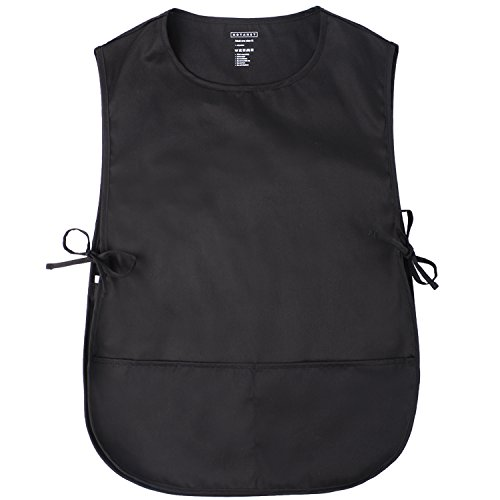 Cobbler Smock - ROTANET Unisex Cobbler Apron - Adjustable Ties/2 Pockets(Black)