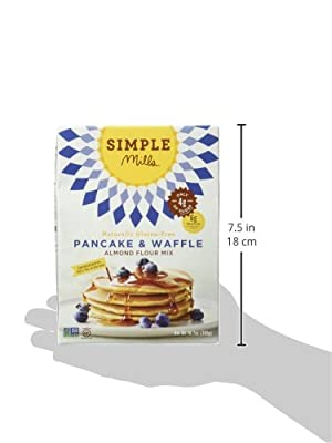 Simple Mills Pancake & Waffle Mix, 10.7 Ounce Box, 3 Count