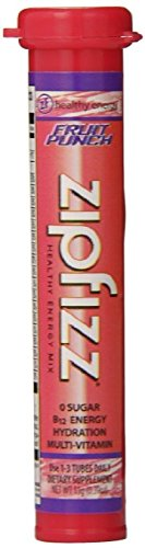 Zipfizz Healthy Energy Drink Mix, Fruit Punch (Fruit Punch, 60 Count) by Zip fizz