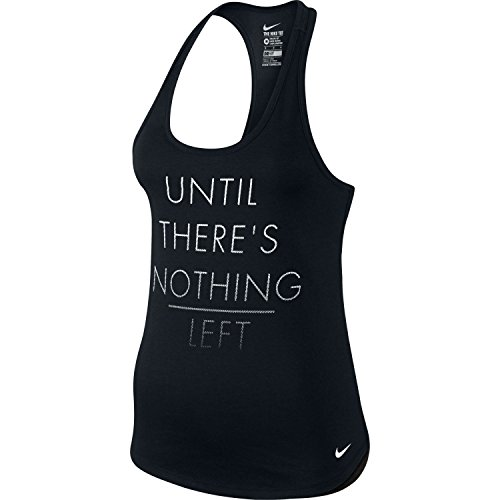 beb596ddd59ff8 Nike Women s Dri-FIT Until There s Nothing Left Graphic Tank Top (Black