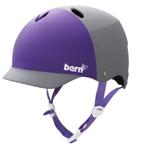BERN Lenox Summer EPS 2-Tone Matte Helmet Grey Purple, X-Small