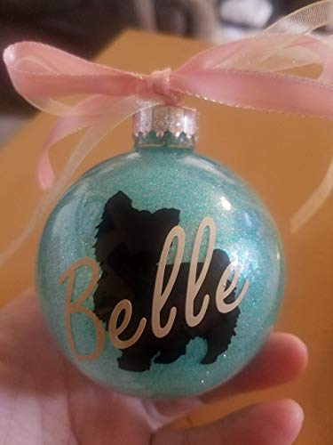Dog - Personalized Ornament - Dogs Breeds to Choose from - Ornament Gift - Glittered ornament - Name on Ornament - Christmas ornament - Gift Exchange - Glitter Ornament - Glitter Ornament - Xmas Gift