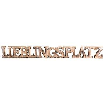 Weiß Dekoration Lieblingsplatz Schriftzug Groß Holz Aufsteller