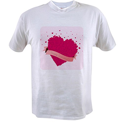 Royal Lion Value T-Shirt Happy Valentine's Day Hearts - (Girlfriend Value T-shirt)
