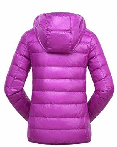 Purple Generic Coats Women's Light Packable Down Padded Ultra Hoodies f664H1nwZq