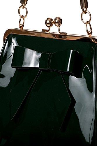 Verde Apparel Banned 50s Americano Brillante Bolso Vintage Rockabilly d0Aawdx