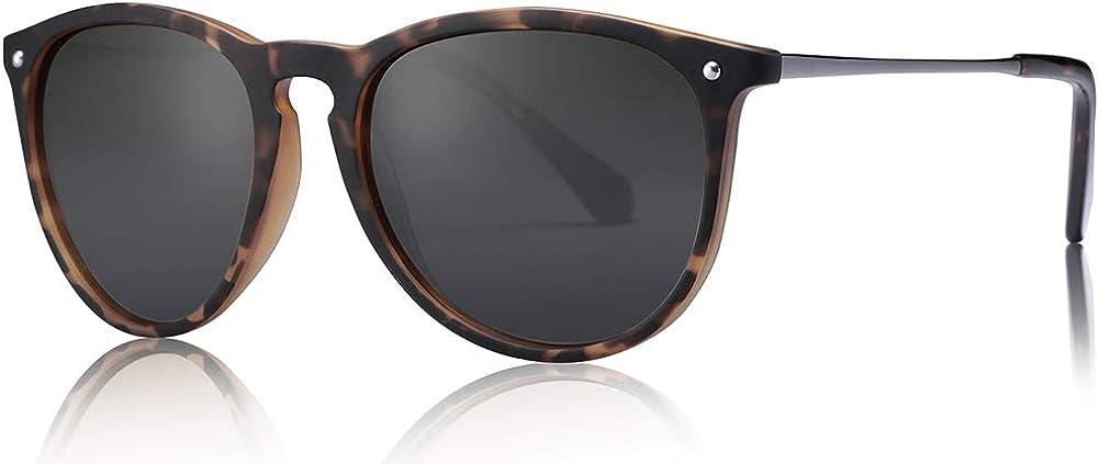 Carfia Gafas de Sol Hombre Mujer UV400 Protección Gafas de Sol Polarizadas