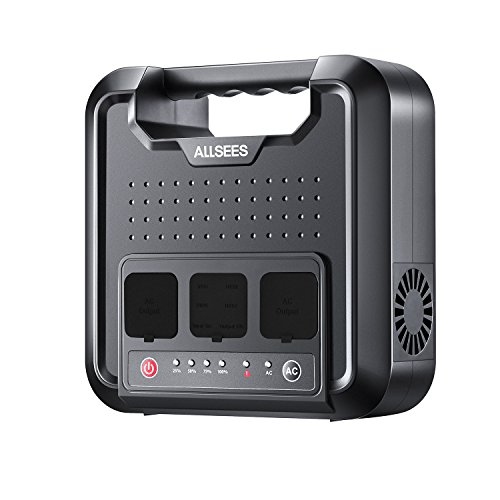 Power Station -300W|220Wh Portable Generator, Multifarious Rechargeable Power Source with DC/AC Inverter, Dual 110V AC Outlet, Dual DC Ports, 4 USB Ports for Outdoor Using, CPAP or Emergency Backup