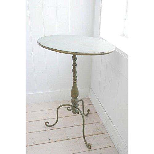 ベルデオーバルテーブル [インテリアのポイントに!幅43cm、奥行き34cm、高さ59.5cm] B0146J12ZC