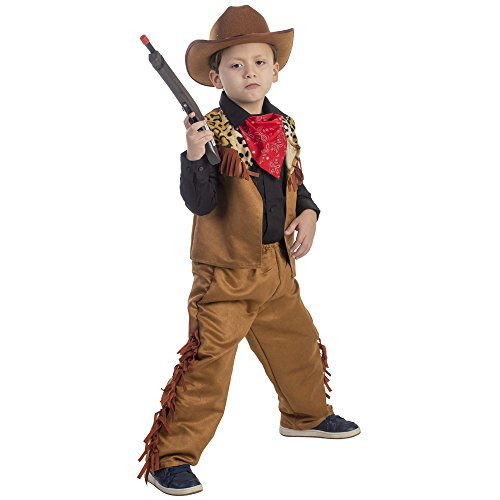 Western Dress Up - Wild Western Cowboy Costume - Size Small 4-6