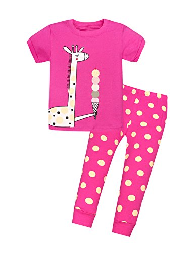 UPC 667176879917, Viobarmo Little Girls Pajama Set Kids T Shirt Top & Pants 100% Cotton Sleepwear (2-7 Years)