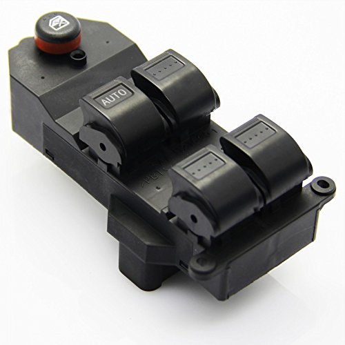 Smps Power Switch (Shinehome 5 Button Switch 35750-S5A-A02ZA Master Power Window Switch Front Left Fits 2001-2005 Honda Civic 4-Door Sedan / 2002-2006 Honda CR-V)
