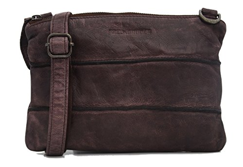 FREDsBRUDER Waxed Leather View Borsa a tracolla pelle 25 cm Burned Wood