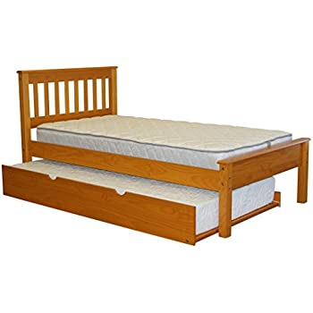 Amazon Com Bedz King Mission Style Twin Bed With A Twin